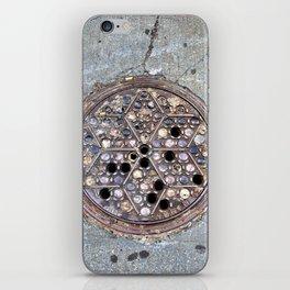 Worth Street Manhole Cover iPhone Skin