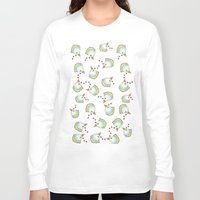 chicken Long Sleeve T-shirts featuring Chicken by Natalia Burgos