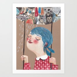 the swing Art Print