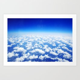Looking Above the Clouds Art Print
