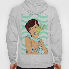 Sexy Girl Toking Up Illustration Hoody