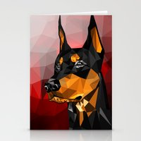 doberman Stationery Cards featuring Doberman by Ruveyda & Emre