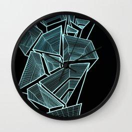 Pockets - Inverted Blue Wall Clock