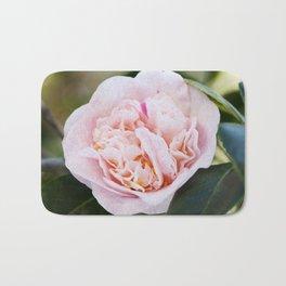 Strawberry Blonde Camellia Flower Bath Mat