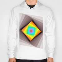 quilt Hoodies featuring Digital Quilt by Take F1ve