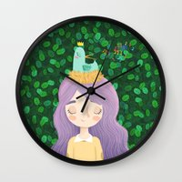 birdy Wall Clocks featuring Birdy by chicapato