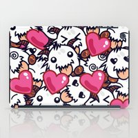 league of legends iPad Cases featuring League of Legends Poro Party by SylvieW