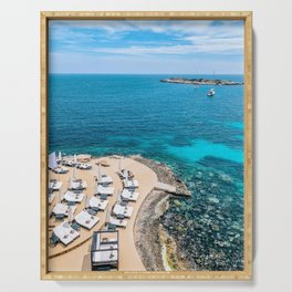 Mallorca sun beds Serving Tray