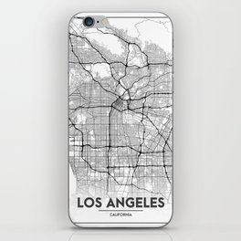 Minimal City Maps - Map Of Los Angeles, California, United States iPhone Skin