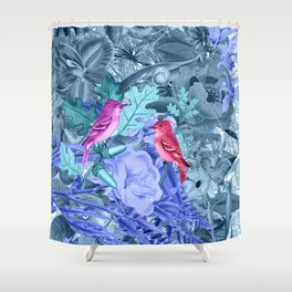 blue&birds Shower Curtain