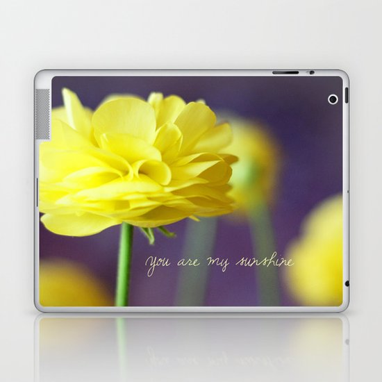 Yellow Ranunculus Laptop & iPad Skin