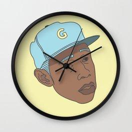 Flower boy Wall Clock