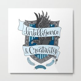 House Pride - Intelligence & Creativity Metal Print