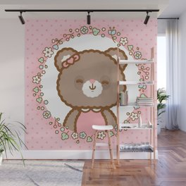 Bear Girl Wall Mural