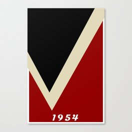 A Modernist V in Red, Black, and Gray - The University of Virginia's College at Wise Canvas Print