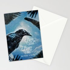The Raven King - All Fire Stationery Cards