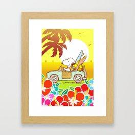 Snoopy Sunrise Framed Art Print
