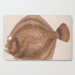 Vintage Flounder Fish Illustration (1919) Cutting Board