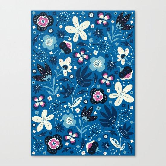 Blue Meadow Canvas Print