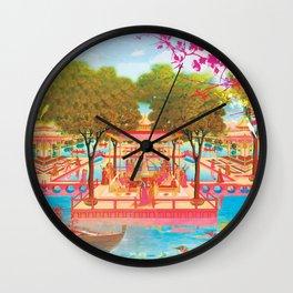 Festival of colors Holi Wall Clock