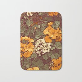 Orange Geranium, Plant of Feminine Healing Bath Mat