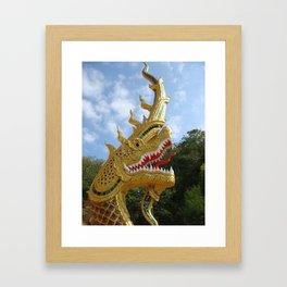 Dragon or serpent deity maintain good thing beautiful big hitters Framed Art Print