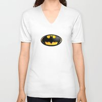 bat man V-neck T-shirts featuring BAT MAN by BeautyArtGalery