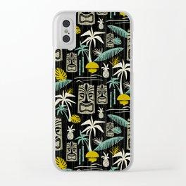Island Tiki - Black Clear iPhone Case