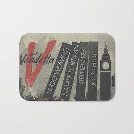 V fo r vendetta, minimal movie poster, Natalie Portman, Stephen Fry, film based on the graphic n Bath Mat