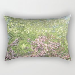 blooming cherry trees in the spring Rectangular Pillow