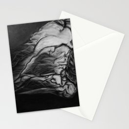 My Heart in Black and White Stationery Cards