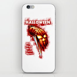 HALLOWEEN - The night he come home iPhone Skin