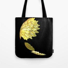 Falling Yellow Leaves Tote Bag