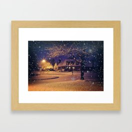 White Christmas Framed Art Print