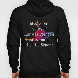 Funny Gymnastics Gift Be Yourself Unless you can Be Simone Then be Simone Hoody