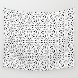 Kat Scratch • Black & White mosaic Wall Tapestry