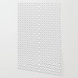 Moroccan Diamonds B&W Wallpaper