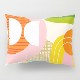 Rise and Shine - Retro Mod Abstract Design Pillow Sham
