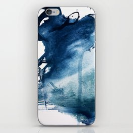 Pacific Grove: a pretty minimal abstract piece in blue by Alyssa Hamilton Art iPhone Skin