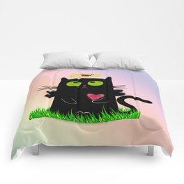 angel cat and ladybug Comforters