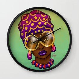 Gold Specs Wall Clock