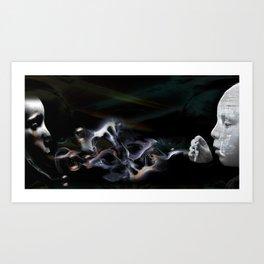 2 Worlds Collide.  Art Print