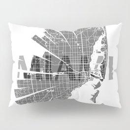 Miami Map Pillow Sham