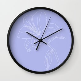 Lily IV Wall Clock