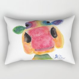 Nosey Cow ' BRIDGET ' by Shirley MacArthr Rectangular Pillow