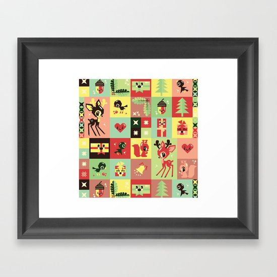 Christmas Geometric Pattern No. 2. Framed Art Print