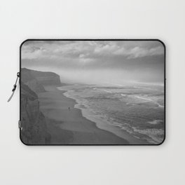 First Footsteps On The Beach Laptop Sleeve