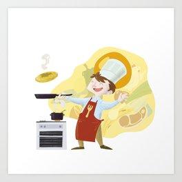 I'll be a chef Art Print