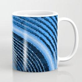 Blue music speaker and sound waves Coffee Mug