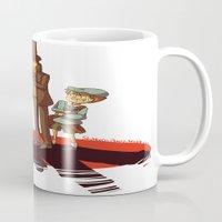 gravity falls Mugs featuring Layton in Gravity Falls by stubbornpotato
